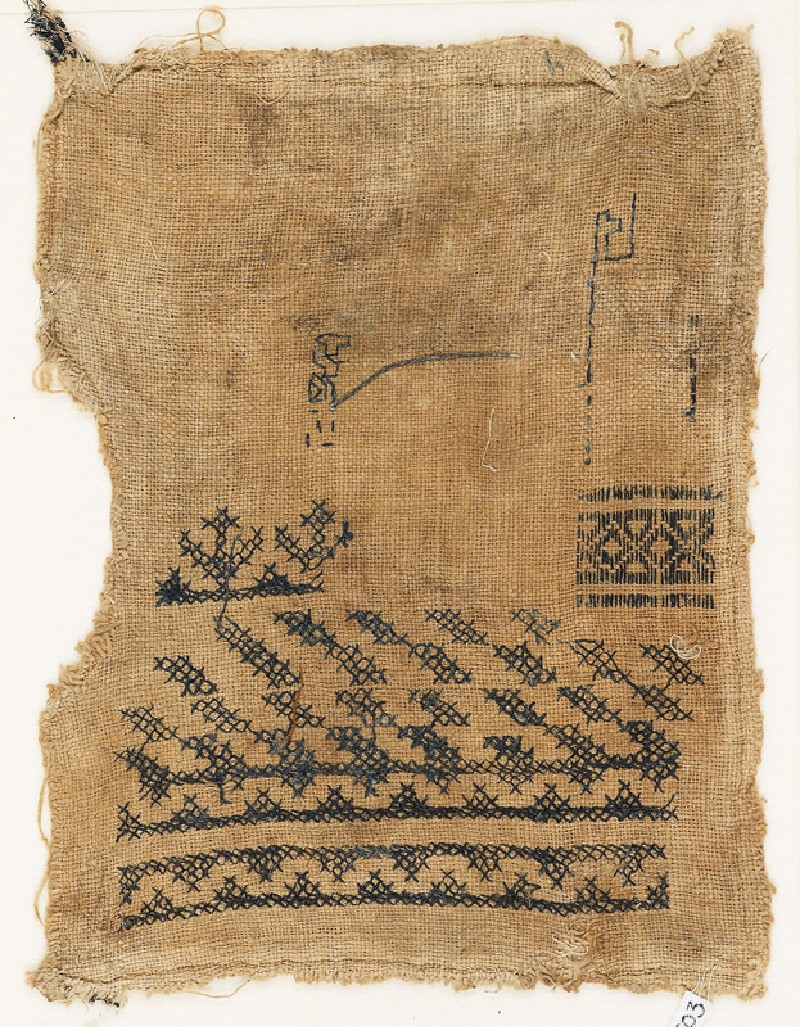 Sampler fragment with diamond-shapes and lozenges