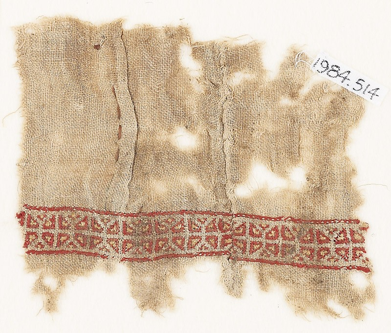 Textile fragment with two rows of triangles (EA1984.514, front            )