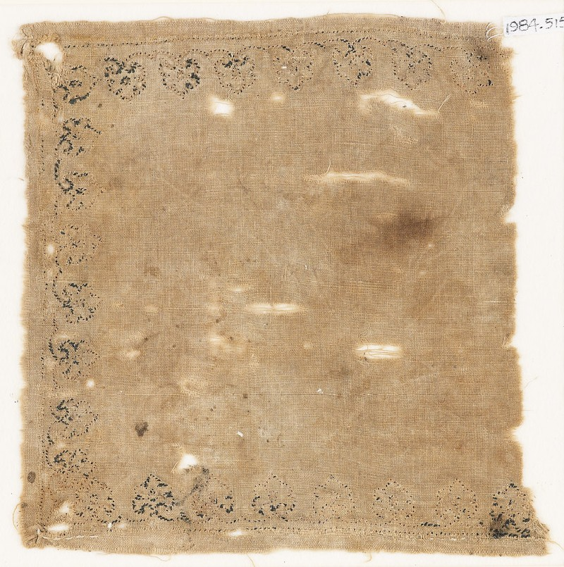Textile fragment with palmettes