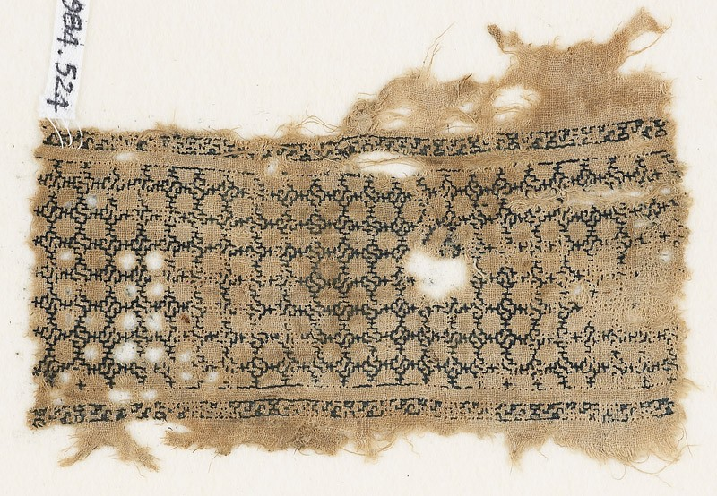 Textile fragment with interlacing knots (EA1984.524, front            )