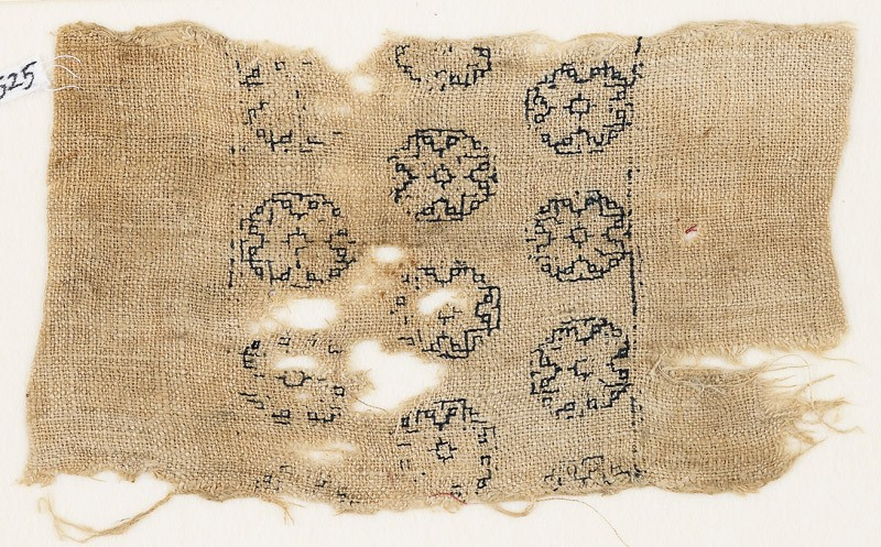 Textile fragment with three rows of octagons (EA1984.525, front            )