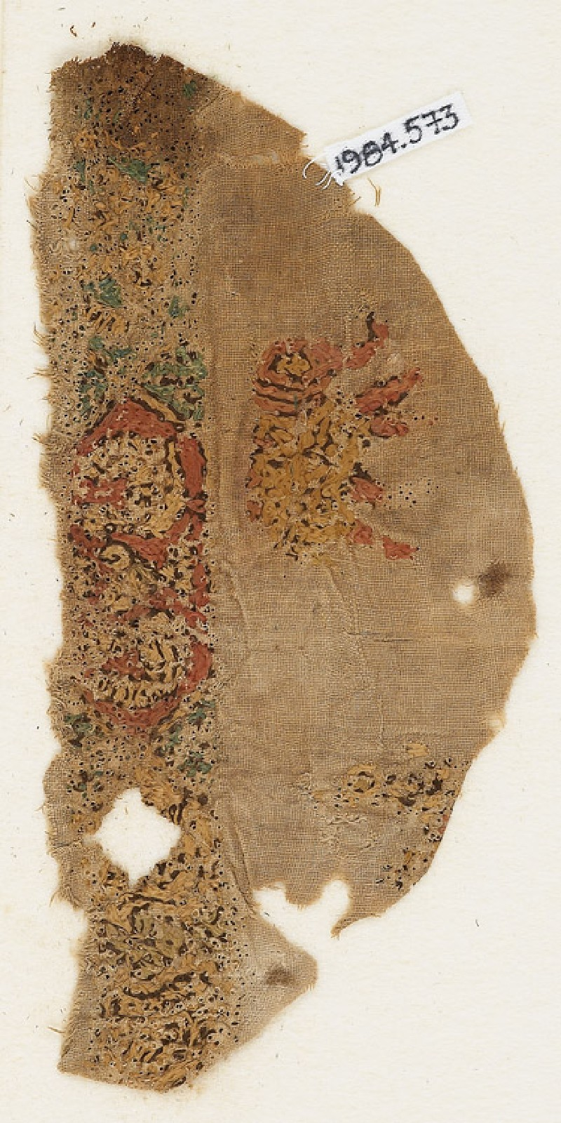 Textile fragment with elephant (EA1984.573, front            )