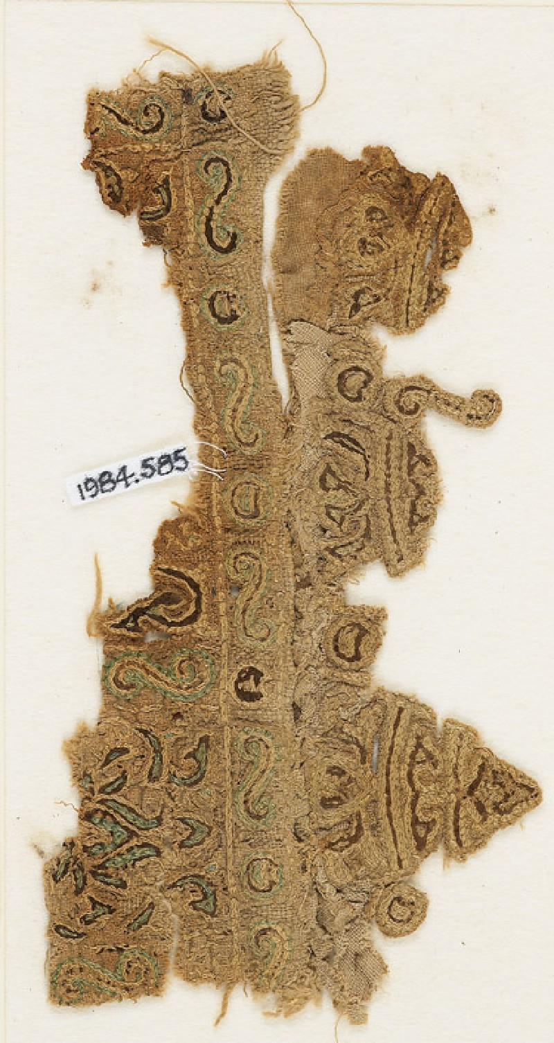 Textile fragment with lotus, possibly from a tent
