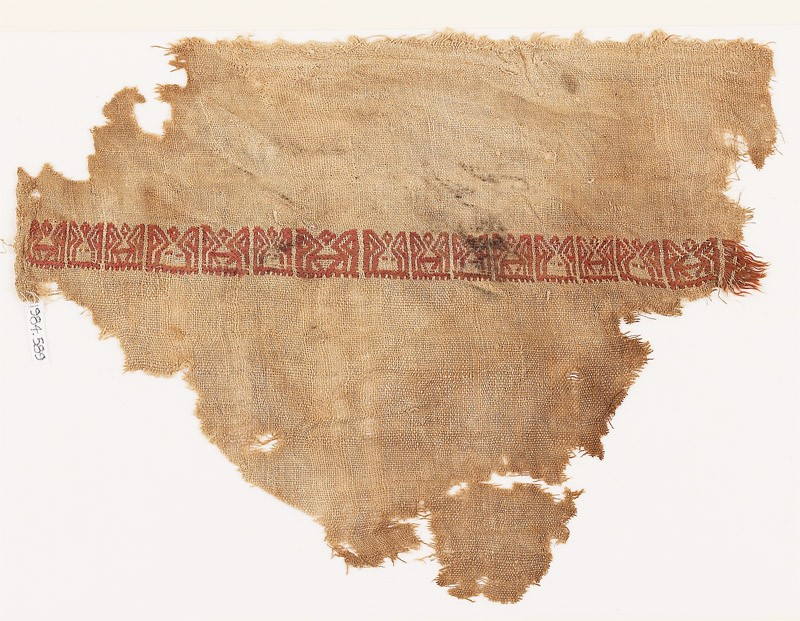 Textile fragment with band of pseudo-inscription (EA1984.589, front            )