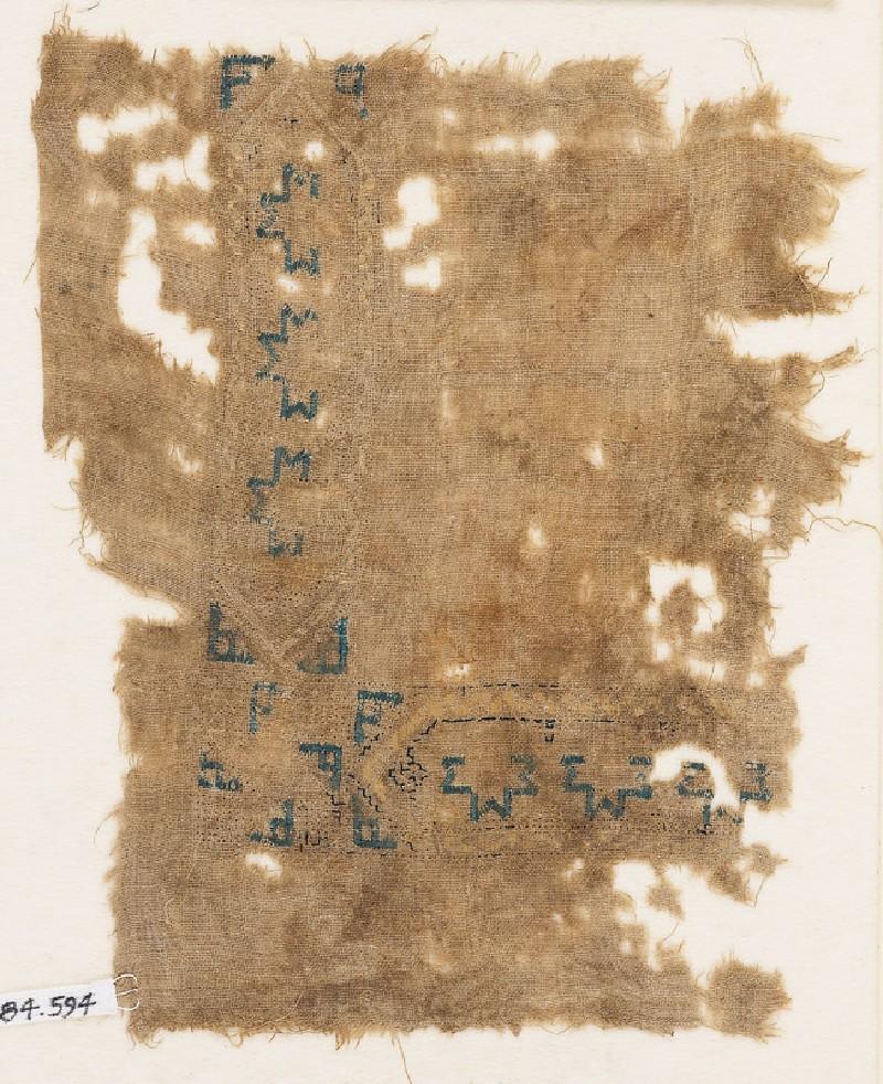 Textile fragment with hexagonal cartouches (EA1984.594, front            )