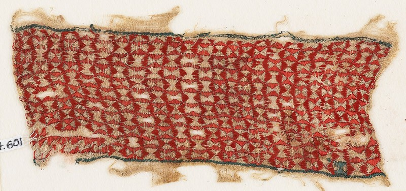 Textile fragment with linked pinwheels (front            )