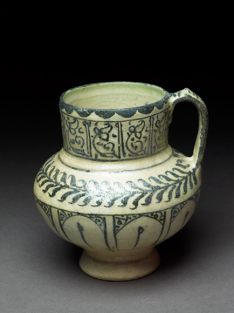 Jug with floral decoration