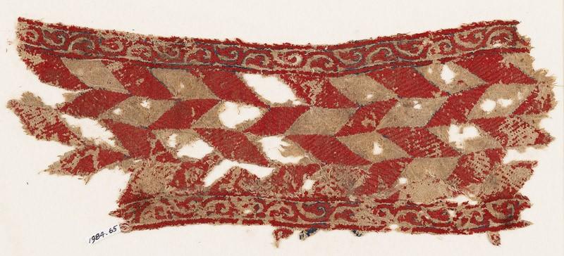 Textile fragment with lozenges (EA1984.65, front           )
