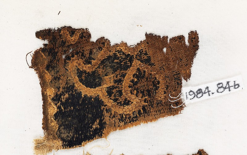 Textile fragment with Maltese cross (EA1984.84.b, front             )