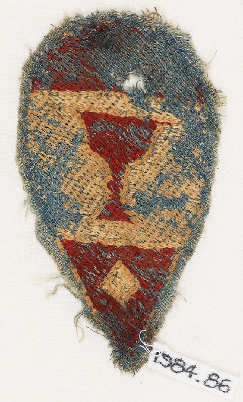 Textile fragment with heraldic blazon