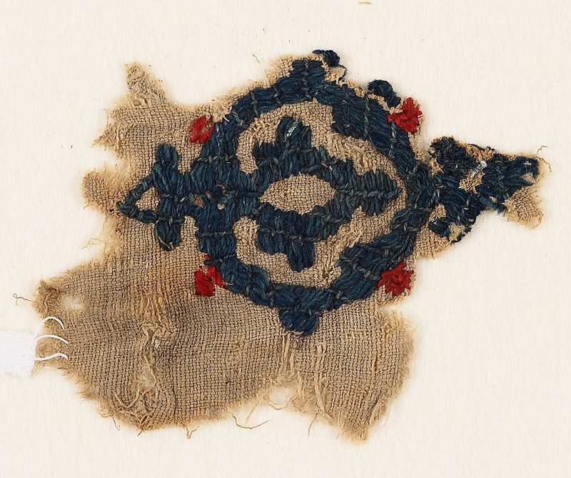 Textile fragment with medallion
