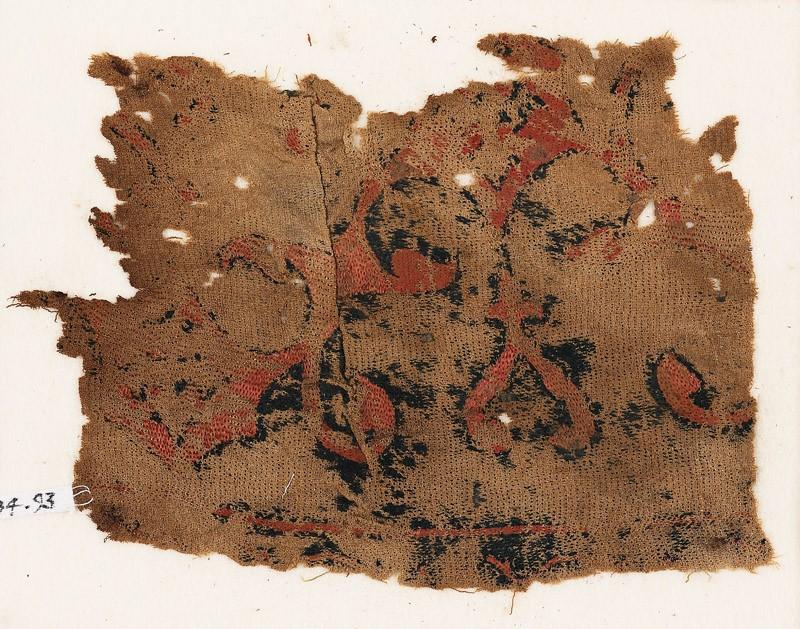 Textile fragment with arabesque