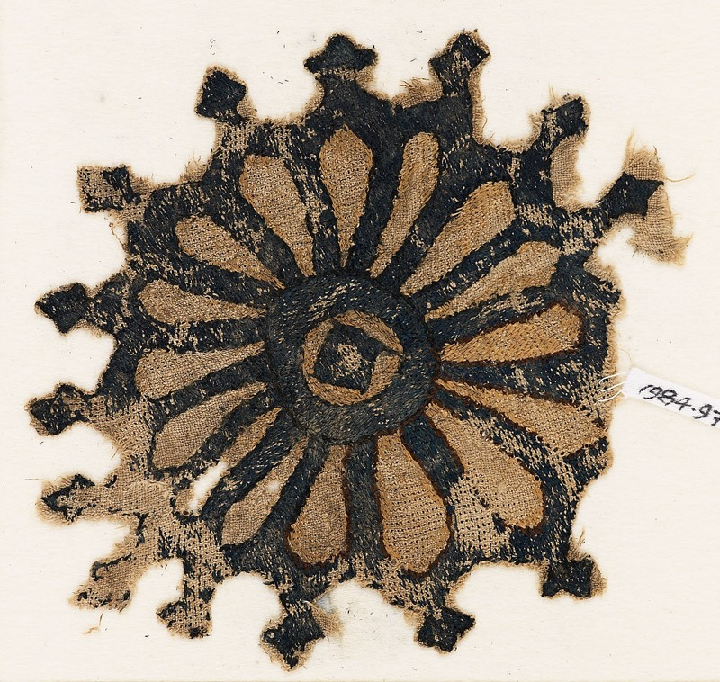 Textile fragment with rosette and trefoil finials (EA1984.97, front           )