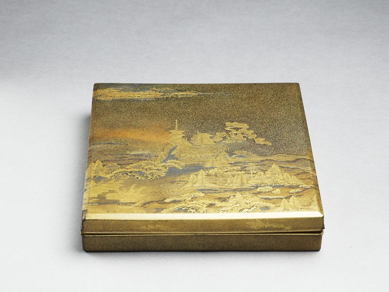 Writing box with landscape