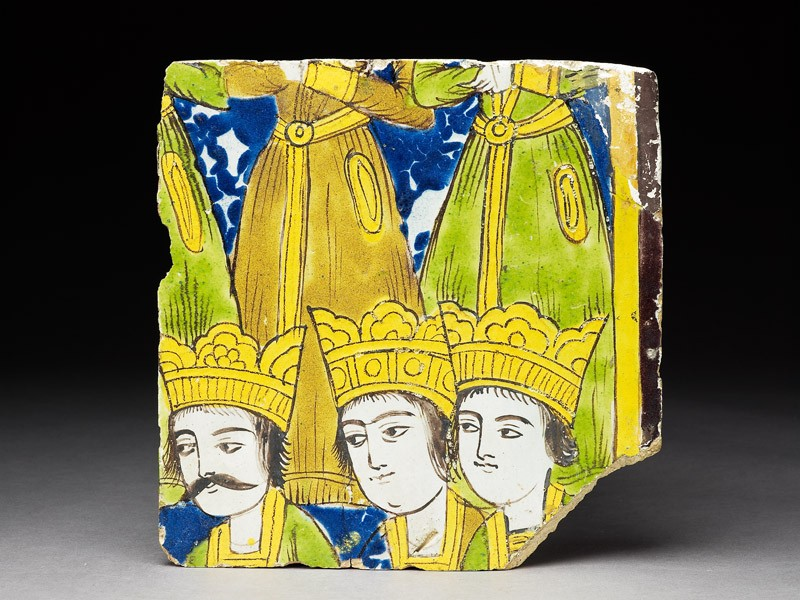 Frieze tile with crowned figures (EA1986.12, top           )
