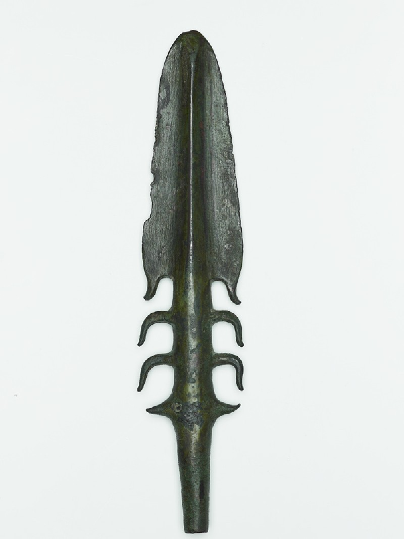 Copper harpoon from the Copper Hoard Culture (EA1986.13, side           )