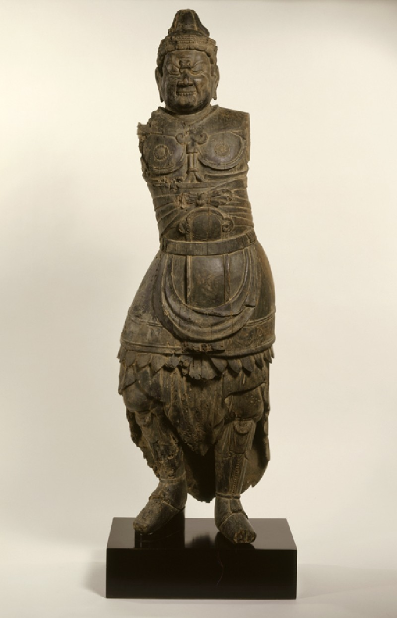 Figure of a Shi-Tennō, a Guardian King of the Four Corners (front           )
