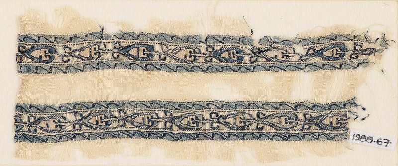 Textile fragment with bands of linked leaves or palmettes (EA1988.67, front           )