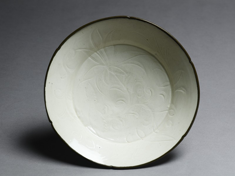 White ware dish with lotus decoration (EA1989.193, top            )