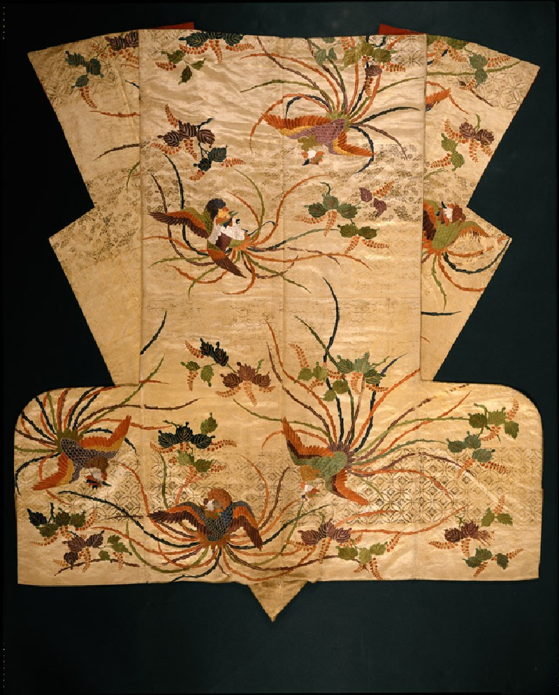 Nuihaku Nō robe with phoenixes and branches (EA1989.203, back            )