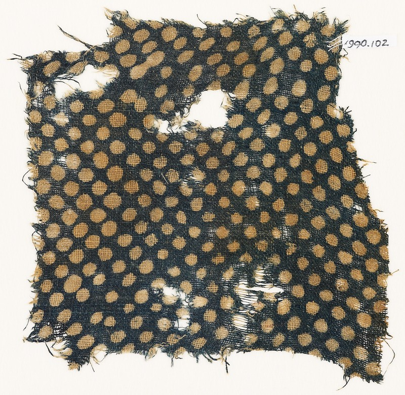 Textile fragment with dots (EA1990.102, front            )