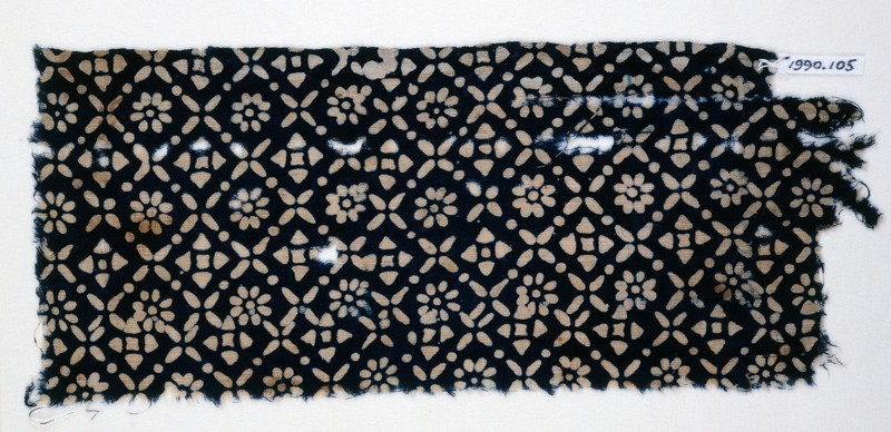 Textile fragment with flowers, quatrefoils, and rosettes (EA1990.105, front            )
