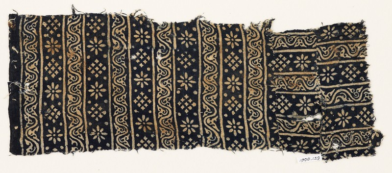 Textile fragment with rosettes, squares, and dots (EA1990.129, front            )