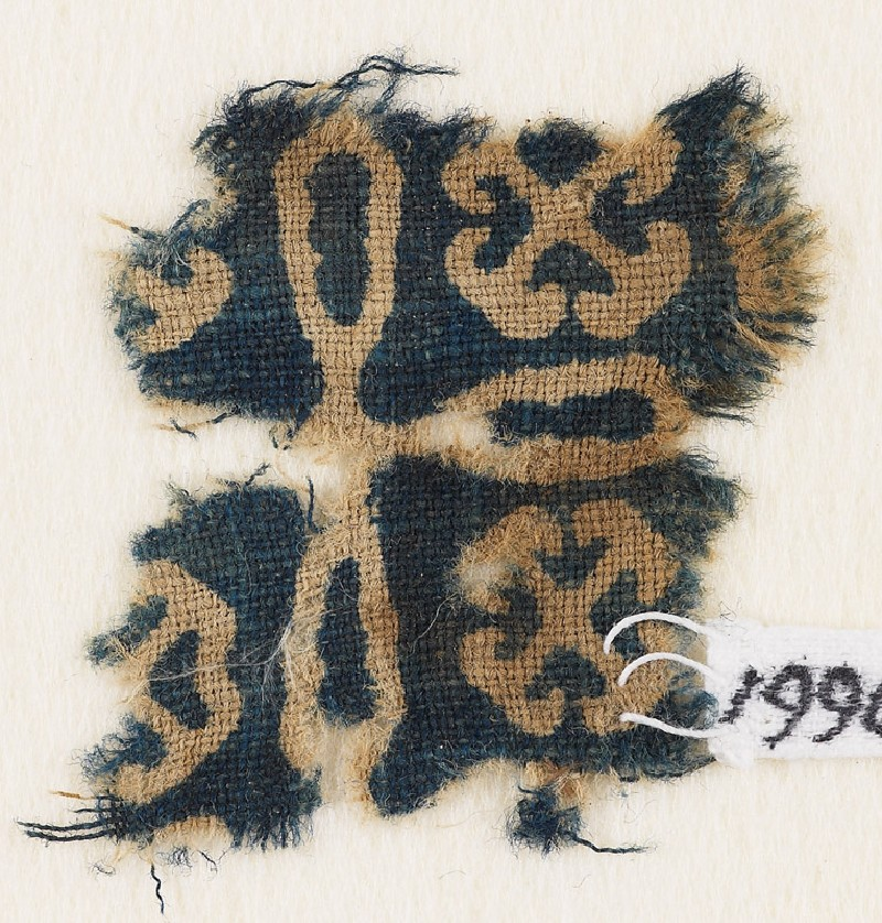 Textile fragment with cross and Maltese crosses