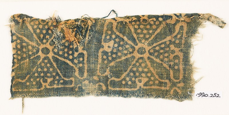 Textile fragment with Maltese crosses (EA1990.252, front            )