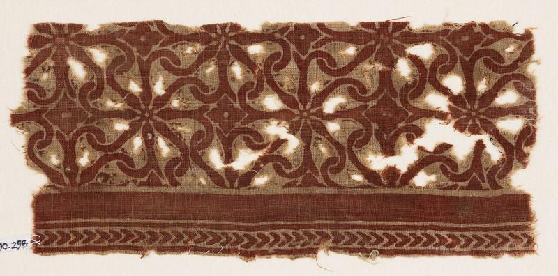 Textile fragment with interlocking spirals