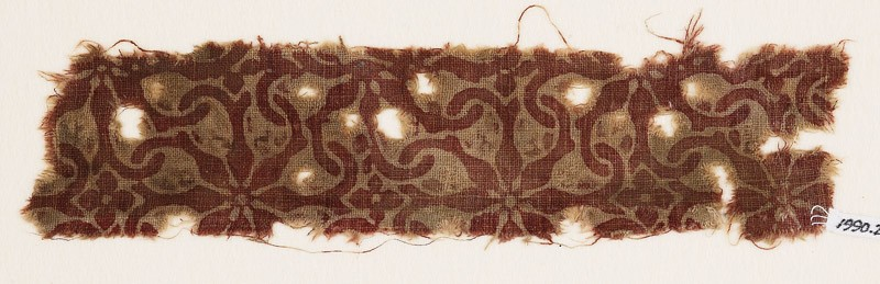 Textile fragment with interlocking spirals (EA1990.299, front            )