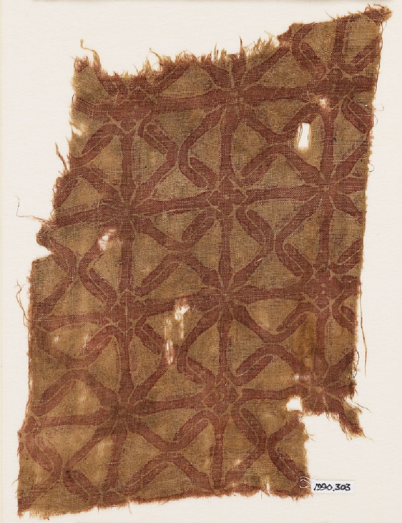 Textile fragment with interlace (front            )