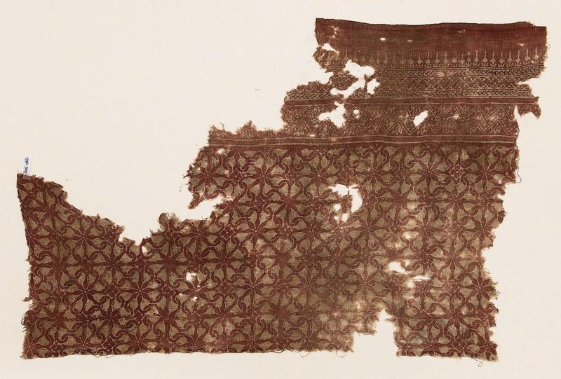 Textile fragment with interlocking spirals (EA1990.305, front            )