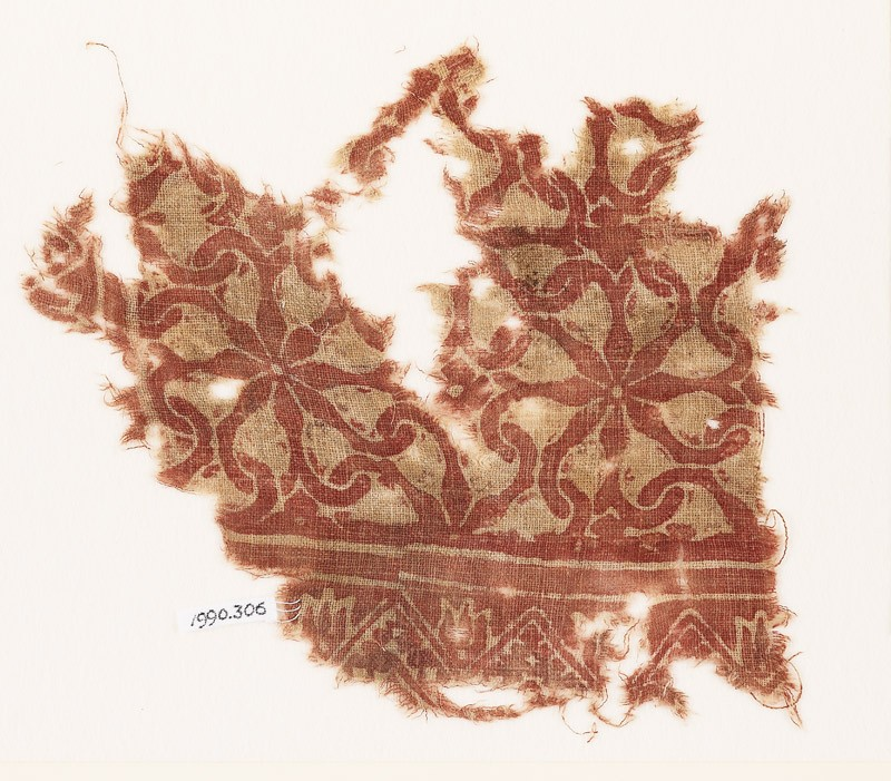 Textile fragment with interlocking spirals (EA1990.306, front            )