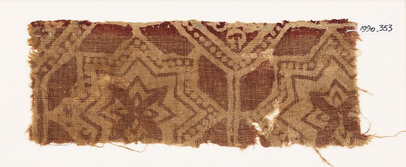 Textile fragment with large stars (front            )