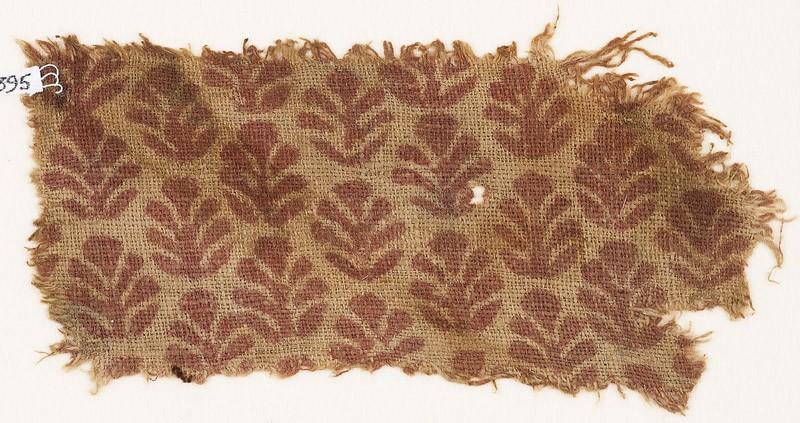 Textile fragment with palmettes (EA1990.395, front            )