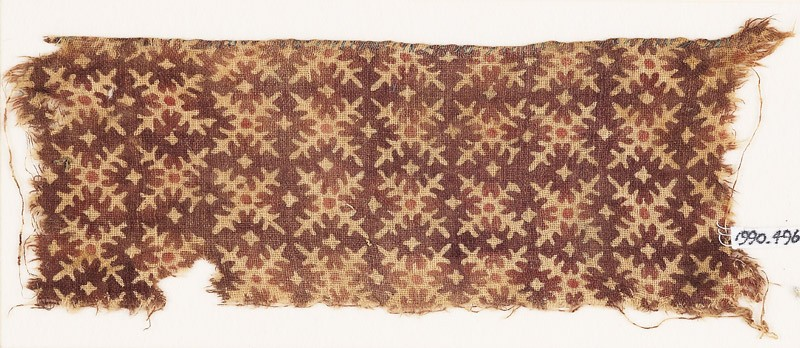 Textile fragment with serrated crosses (EA1990.496, front            )
