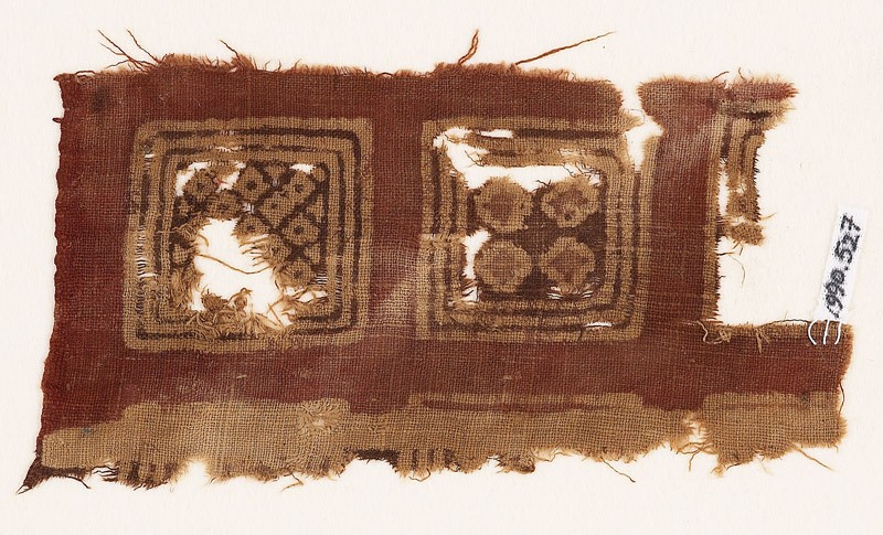 Textile fragment with squares and diamond-shapes (EA1990.527, front            )