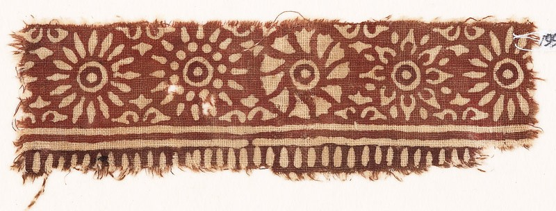 Textile fragment with band of rosettes (EA1990.548, front            )