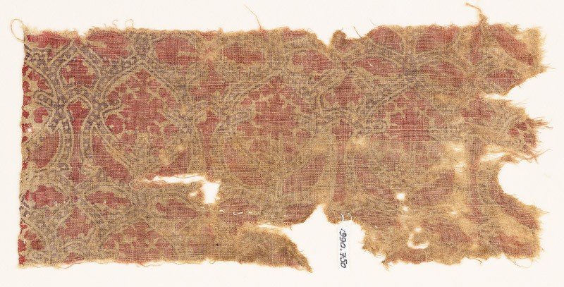 Textile fragment with interlacing tendrils (EA1990.750, front            )