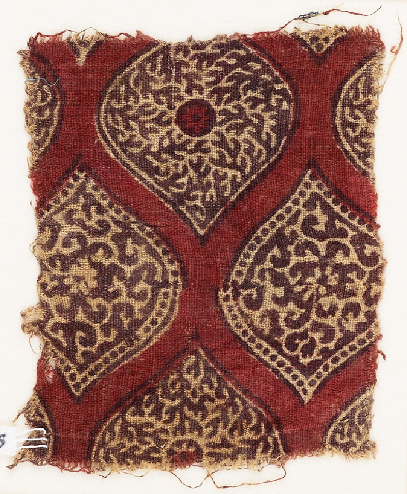 Textile fragment with pointed ovals (EA1990.756, front            )