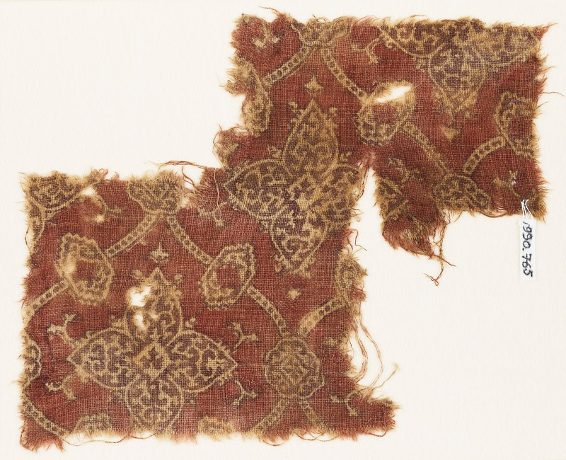 Textile fragment with medallions (front            )