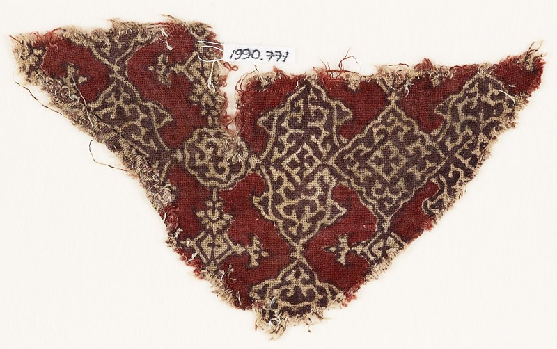 Textile fragment with cartouches, squares, and medallions (EA1990.771, front            )
