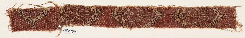 Textile fragment with palmettes