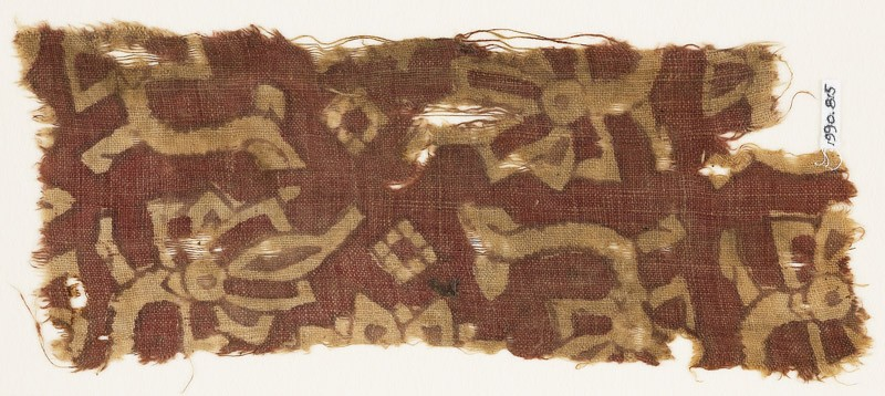 Textile fragment with stylized flowers or trees (EA1990.815, front            )