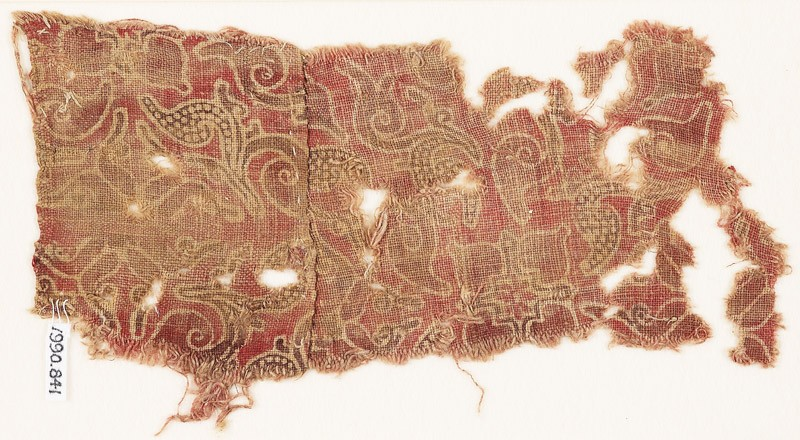 Textile fragment with leaves and quatrefoils (EA1990.841, front            )