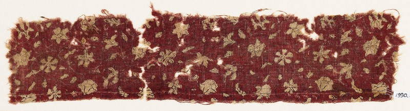 Textile fragment with flowers (EA1990.858, front            )