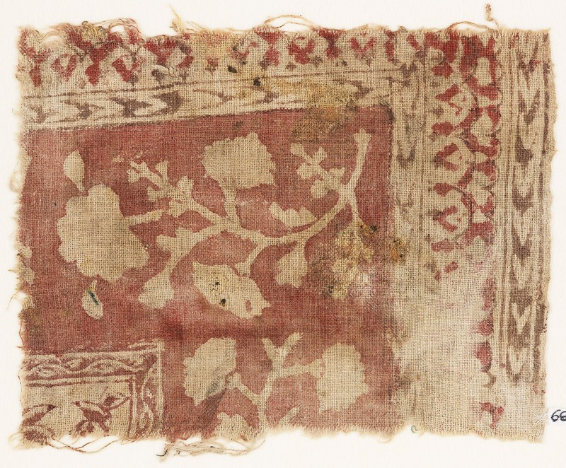 Textile fragment with flowers