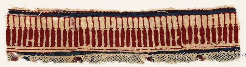 Textile fragment with pillars (EA1990.933, front            )