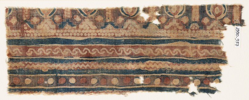 Textile fragment with bands of S-shapes and zigzag (EA1990.937, front            )
